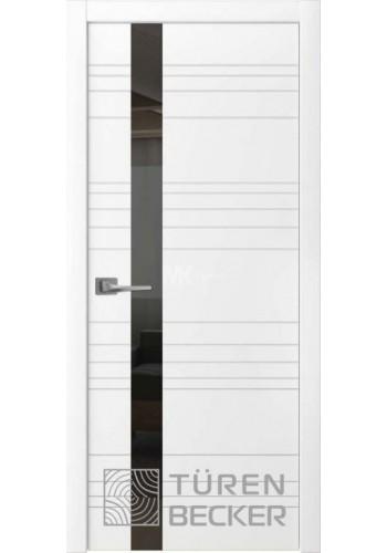 Дверь Turen-becker Соммер ПО (стекло - черный лакобель) белая эмаль