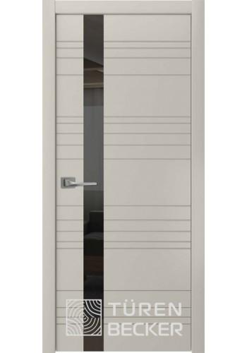 Дверь Turen-becker Соммер ПО (стекло - черный лакобель) серый камень