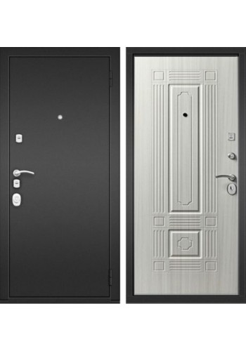 Входная дверь Стальной Стандарт S10 (Стальной Стандарт С10) Черный муар / Беленый дуб