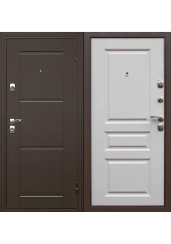 Входная дверь ДК Эстет белый матовый